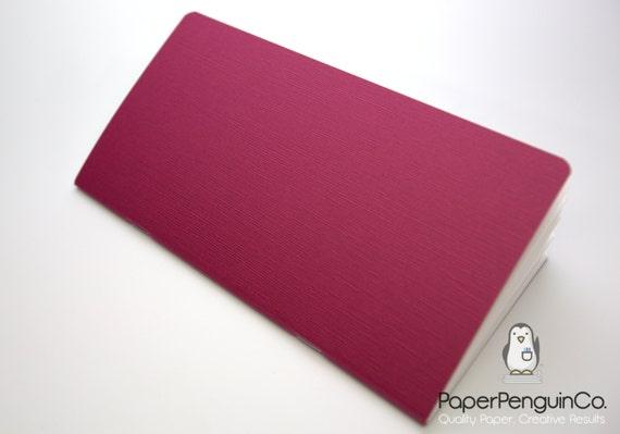 Midori Insert Japanese Linen Textured Burgundy Travelers Notebook Regular Wide B6 B6 Slim Personal A6 Pocket Field Notes Passport Mini Micro