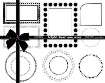 70% OFF SALE Digital elegant frame border, Frame Clip Art, Classic Design, Frame Design, Vector Frame, Vector Border