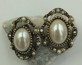 Faux Pearl gold Tone post Earrings    BUY 3 Get 1 FREE