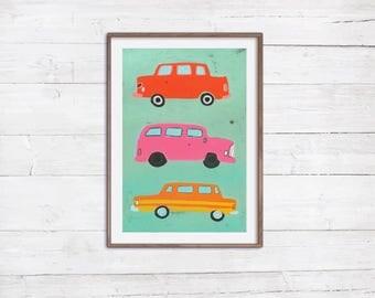 Vw Art | Etsy Babyzimmer Orange Grn