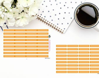 Planner Stickers Box Stickers Orange Box Stickers  Hourly and Vertical Planners  For use in a variety of planners and journals HB018