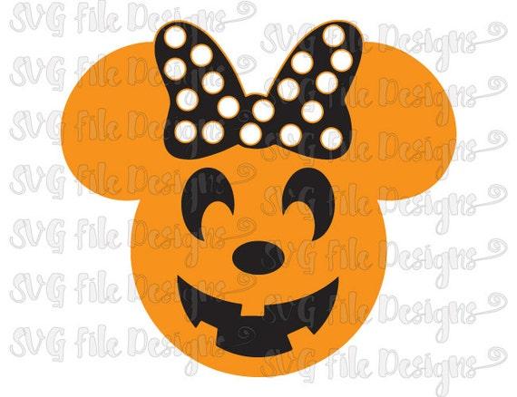 Halloween Minnie Mouse Jack-o-lantern Pumpkin By