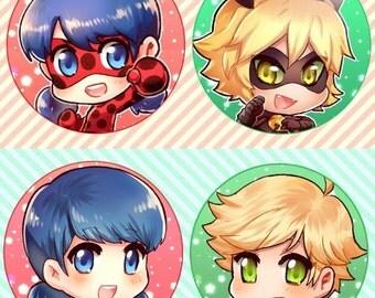 Ladybug Buttons (4)