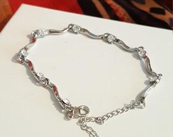 Austrian Crystal white bracelet