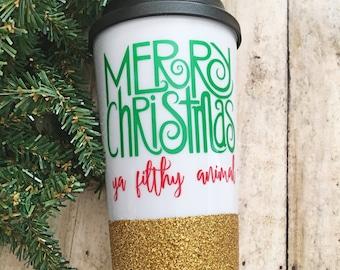 Christmas coffee cup/travel mug/home alone