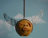 Rolypoly Flying Pig Car Mirror Accessory