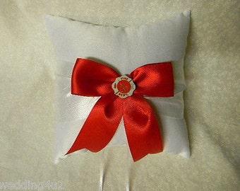 Wedding Reception Ceremony Party Fireman Maltese Ring Bearer Pillow