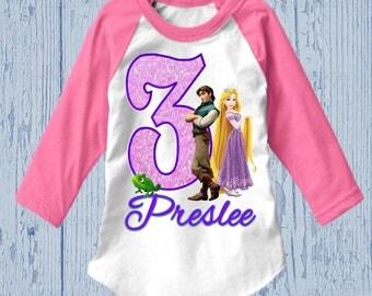Rapunzel Birthday Shirt - Tangled Birthday Shirt - Tank Top Available