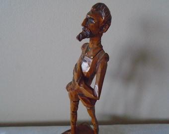 wooden carved figure