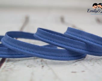 piping, band, jeans blue