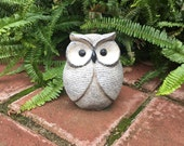 Hand Painted Garden Owl or Table Centerpiece Clay Pottery Owls Beach Inspired Home Gardening Decor Spiritual Totem  Item #470070725