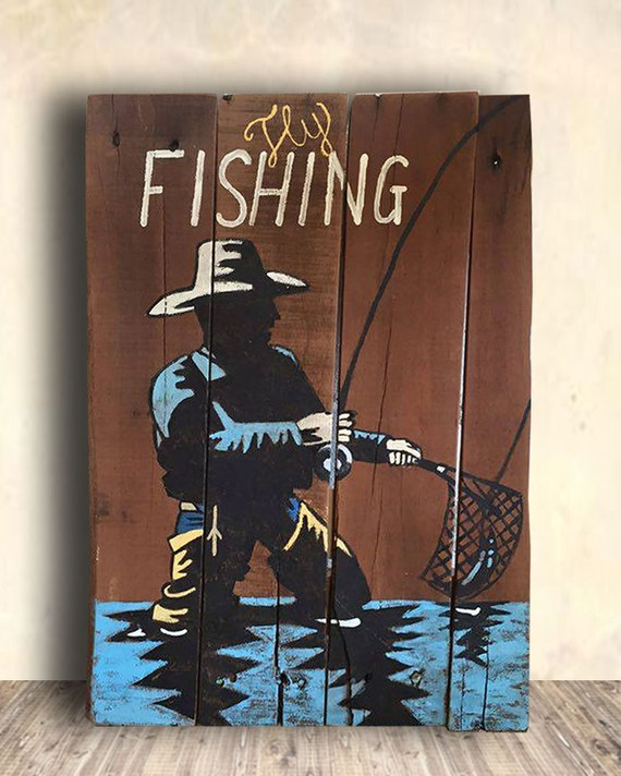 Man Cave Fishing Decor : Fishing signs man cave sign fly gifts