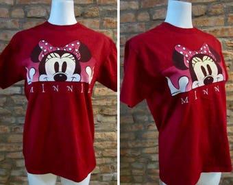 Vintage T-Shirt • 90s T-Shirt • Vintage Minnie Mouse T-Shirt • Vintage Disney Shirt • Medium 90s Cartoon Shirt • Mickey Inc Minnie Shirt