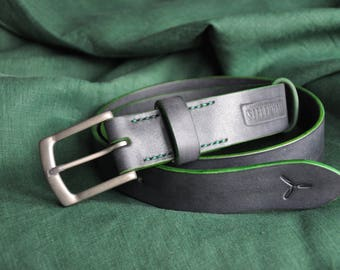 38 mm.  vegetable tanned leather belt
