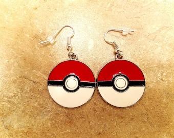 Original Red Pokeball Earrings