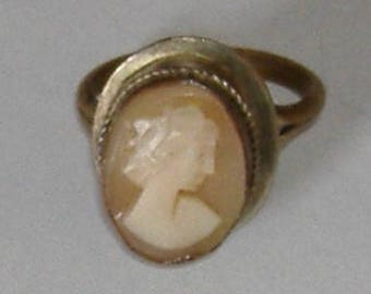 VICTORIAN CAMEO BRASS Ring