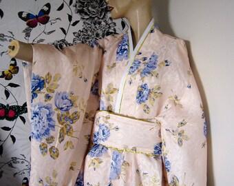KIMONO ROBE WITH back cushion belt adjustable freesize size 12 to 16
