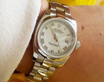 Ladies Rolex Datejust 179160 Steel Oyster Bracelet & White Dial from 2006