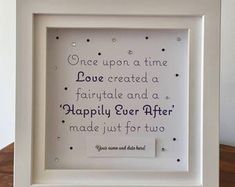 Personalised Wedding Gift Frame