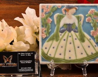 Rookwood Pottery Tile, 1925 Southern Bell Tea Tile #3070