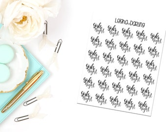 Hand Letter Girls Night Planner Stickers