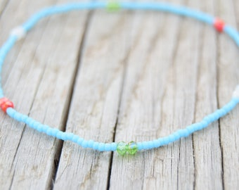 Very Dainty Anklet Beaded Bracelet Beaded Anklet Beach Anklet Friendship Bracelet Boho Chic Jewelry Gifts for Woman