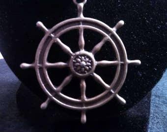 Ship's Wheel Necklace