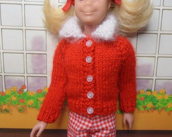 Skipper doll-- Red Knit Sweater with white Collar Only -- no doll
