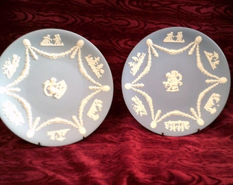 Two Vintage Wedgwood Jasperware Decorative Plates