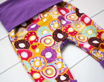 Cloth Diaper Pants. Maxaloones. Sprinkled Donuts Made With Love. Purple Coordinate.