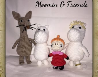 Crocheted Moomin - Moomin plush - Moomin Stuffed Toy - Unique Plushy- Crocheted Toys