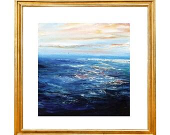 Vibrant Canvas Art Ocean Painting Seascape Painting