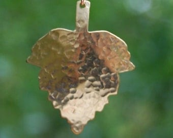 Brass Leaf Pendant by Cherokee Copper