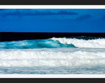 Ocean Waves Photo Tropical Beach Photograph Print Original Signed Mat Matted