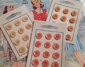 3 Cards of Vintage Button...