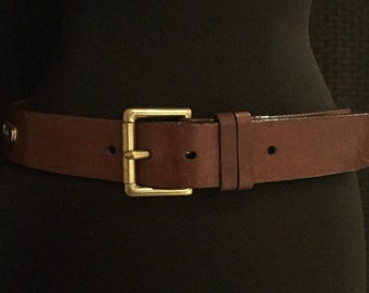 Vintage Polo Ralph Lauren Harness Leather Belt