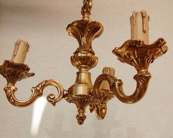 French Vintage Bronze Chandelier