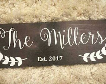 family Wood sign, last name Wood sign
