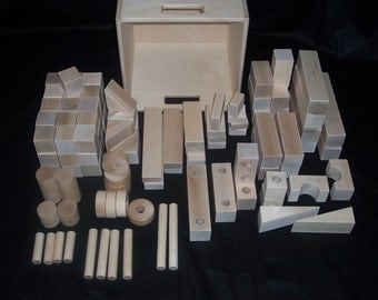 Classic Maple Unit Building Block Set