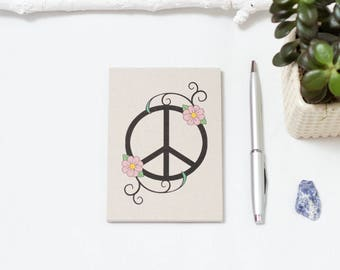 Peace and Daisies Notepad, Notebook
