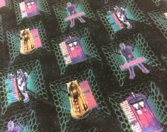 Doctor Who Tardis fabric, BBC fabric, geek fabric, Dr. who fabric, tardis fabric, novelty fabric
