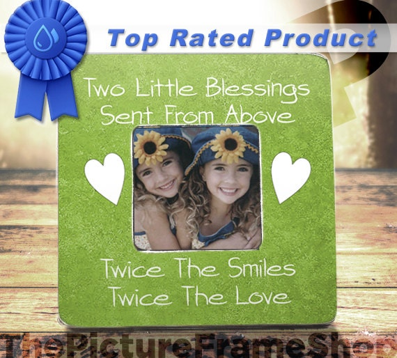Twins Baby Gift Twins First Birthday Mom Of By ThePictureFrameShop