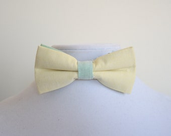 bow tie yellow and green for men