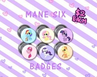 MLP Mane 6 Badges