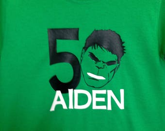 Hulk Birthday Shirt, Boys Avenger Shirt, Avenger Birthday Shirt