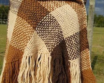 Tri-loom Hand Woven Shawl