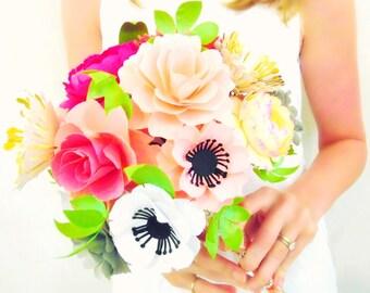 Paper Flower Bouquet Alternative Bridal Custom Wedding Templates