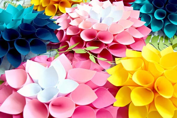 Giant Paper Flowers Paper Flower Wall Flower Templates