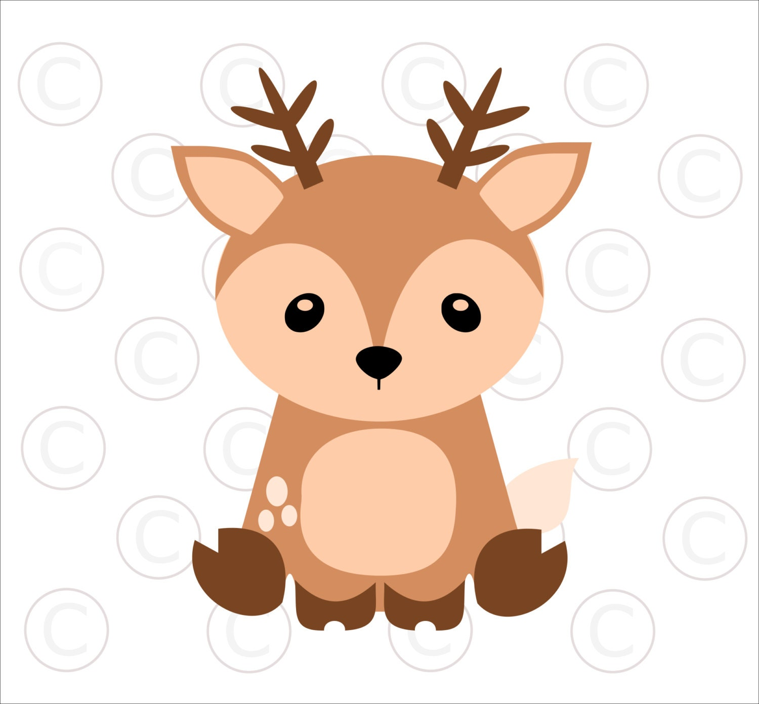 Baby Woodland Animal SVGs, Baby Deer cut files, Woodland ...
