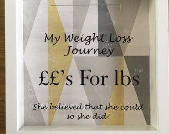 My weight loss journey box frame